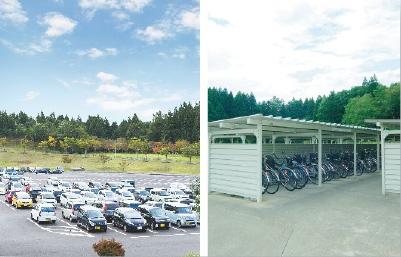 学生駐車場・駐輪場