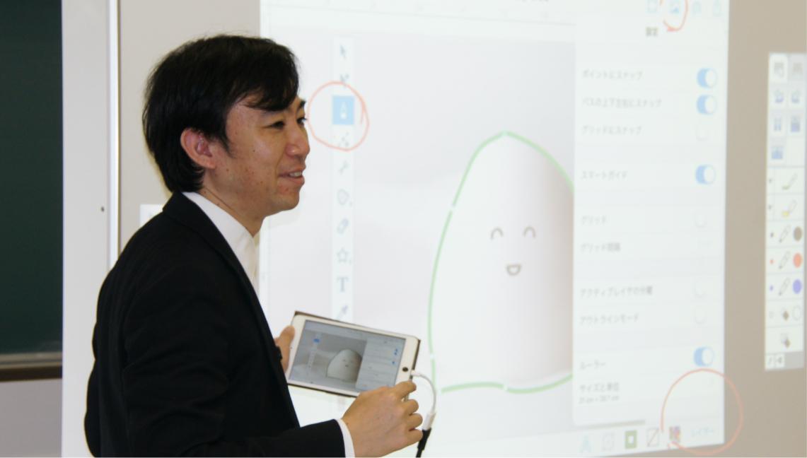 03 電子黒板・プロジェクタを全ての講義室に完備
