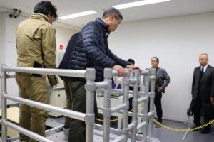 振動試験室の地震動体験